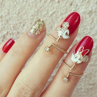jewels mickey and minnie ring rhinestone disney