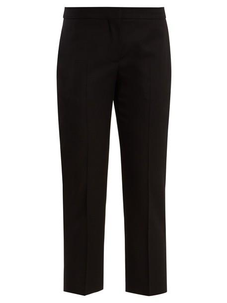 Alexander Mcqueen cropped wool black pants