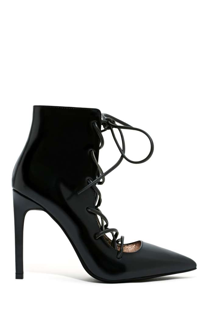 Jeffrey Campbell Sugarplum Bootie - Black | Shop Shoes at Nasty Gal