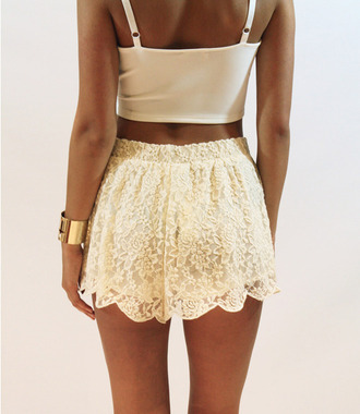 shorts lace frilly cute delicate tank top