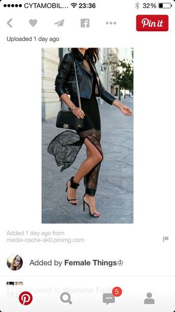 skirt black lace