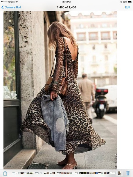dress unknown brand leopard dress