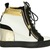 Giuseppe Zanotti Women's Gold Heel Plate Wedge Sneakers  |  UpscaleHype