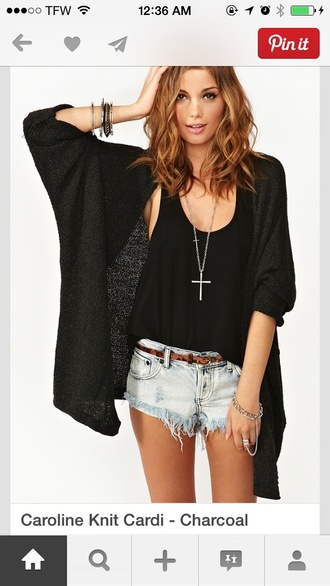 jacket cardiagan knitwear black vintage nasty girl less than $80 similar boutique pinterest summer cover up blonde hair help me find these