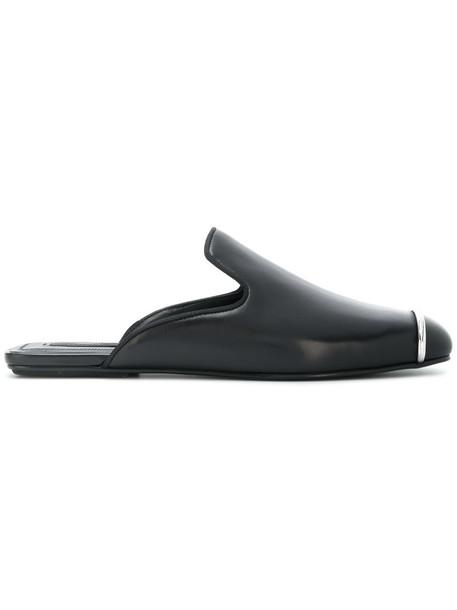 Alexander Wang metal women mules leather black shoes