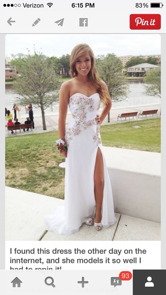 slit homecoming dress long