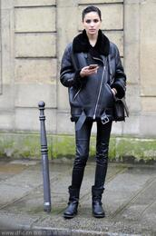 jacket,leather jacket,acne studios,black leather jacket,black jacket,pants,black pants,leather pants,black leather pants,boots,black boots,streetstyle
