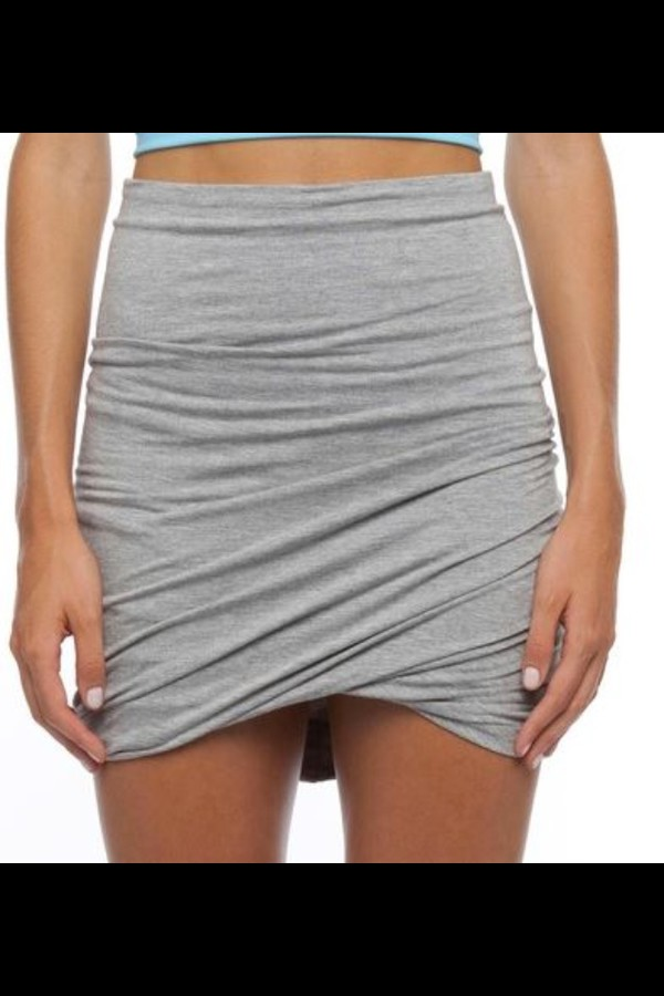 skirt tight designer grey