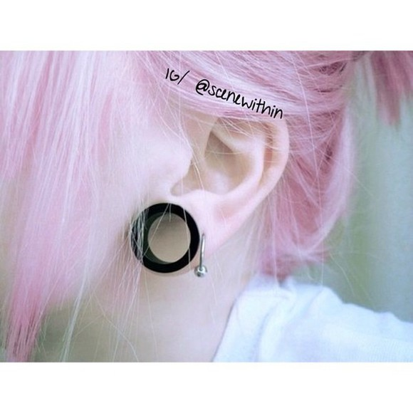 jewels style cool pink hair dilators