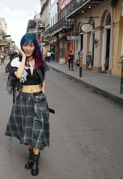 skirt lacarmina lacarmina goth punk goth plaid fashion blogger fashion blog checkered