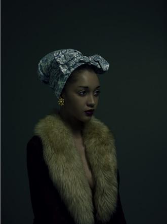 scarf fur fur scarf turban black girls killin it