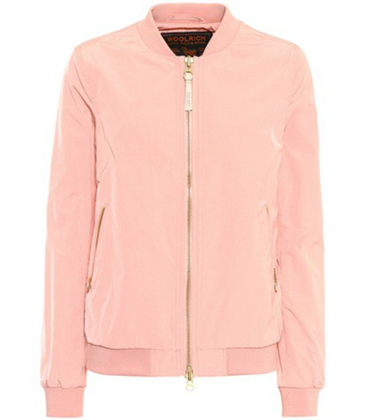 Woolrich jacket bomber jacket pink