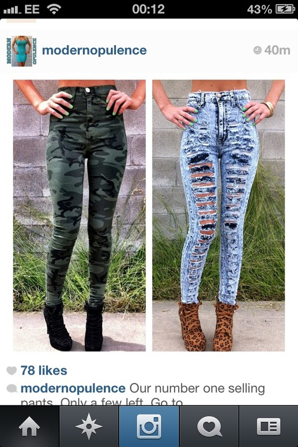 pants camouflage army green camo pants high waisted pants green