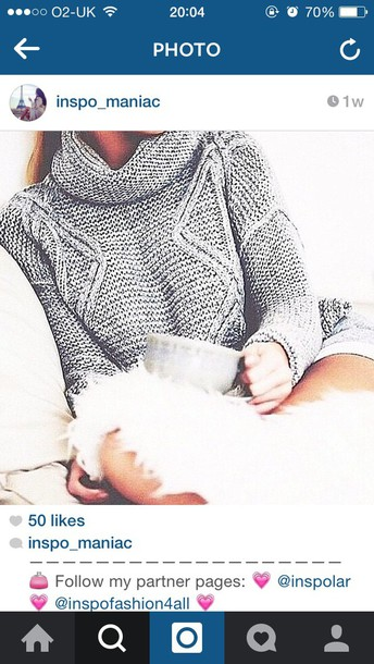 sweater turtleneck grey sweater