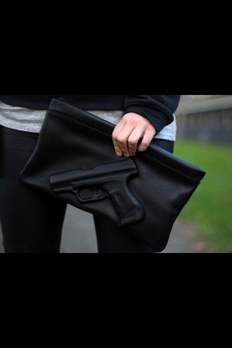 bag gun black awesome! revolver black wallet wallet