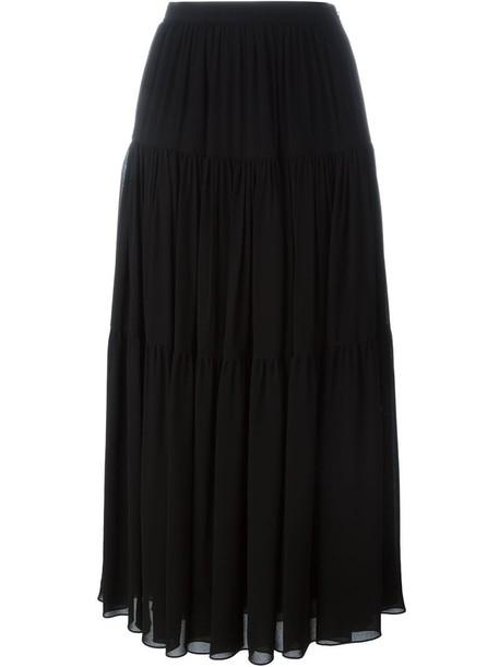 Saint Laurent skirt maxi skirt maxi women cotton black