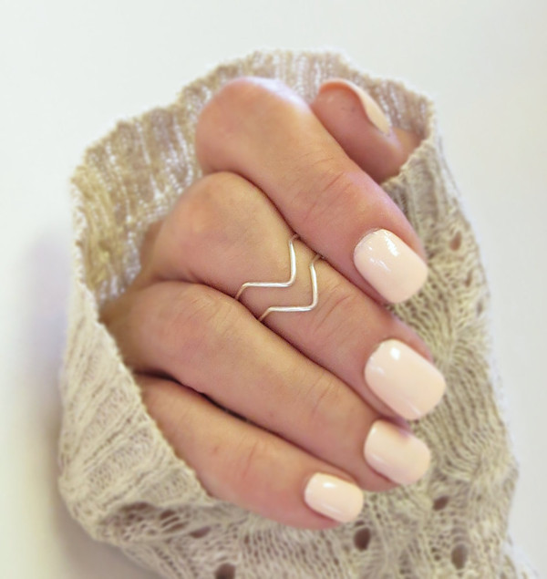 jewels ring nail polish knuckle ring mid ring chevron rings