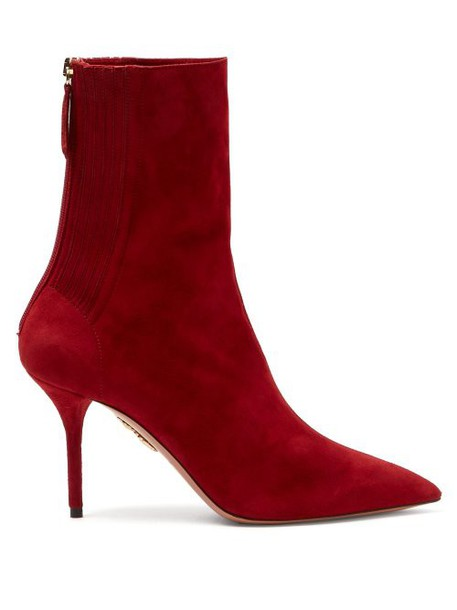 Aquazzura - Saint Honore 85 Ankle Boots - Womens - Red