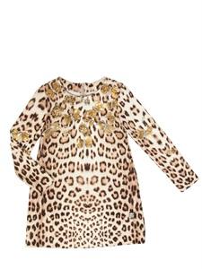 Embellished viscose milano knit dress