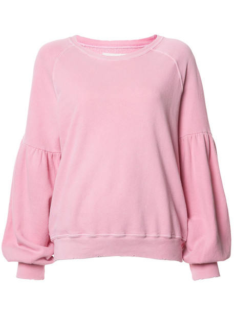 The Great - relaxed fit sweatshirt - women - Cotton - 2, Pink/Purple, Cotton