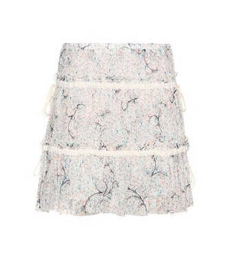 skirt cotton silk white
