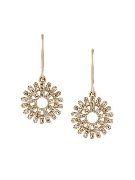 Astley Clarke sun women earrings gold grey metallic jewels