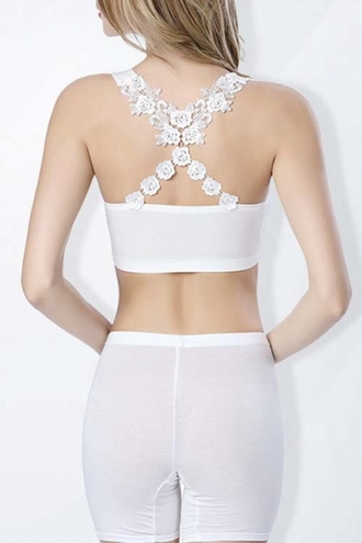 top daisy cross back