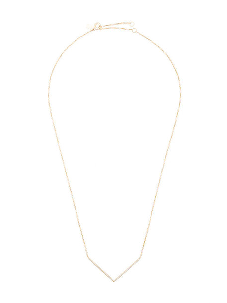 EF COLLECTION women necklace gold grey chevron metallic jewels