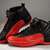 Air Jordan 12 Retro Womens Leather Black/Red Basketball Shoes