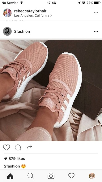 shoes nude pink adidas trainers
