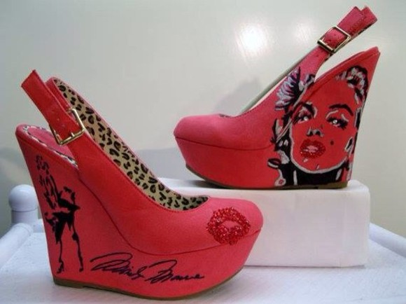 marilyn monroe shoes pink