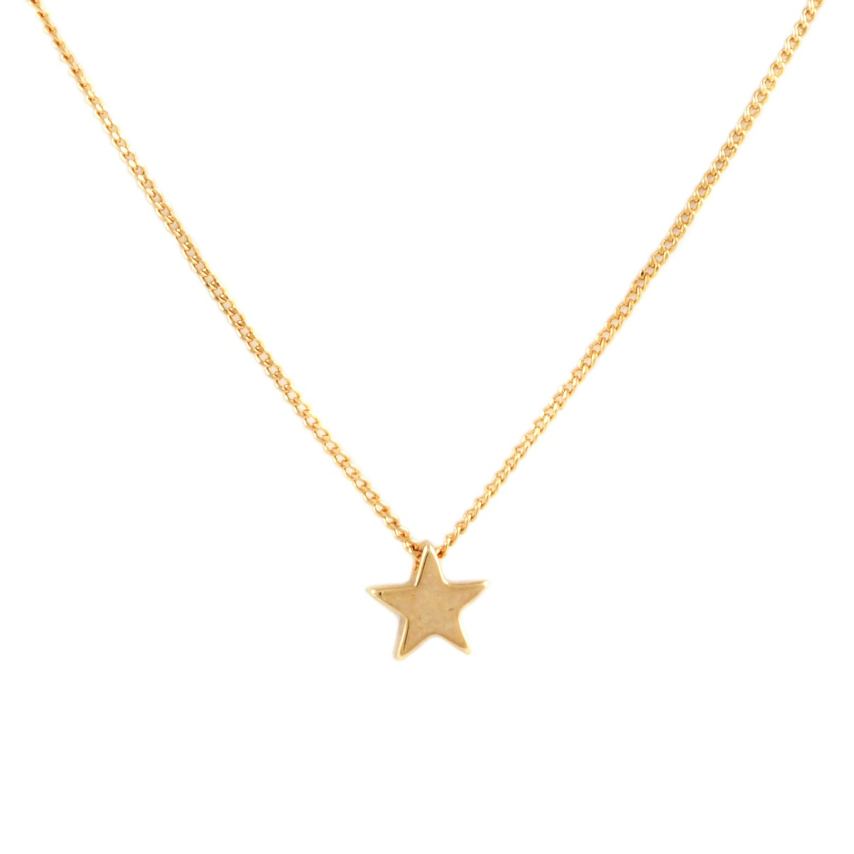 Dainty Star Necklace | Gold Plated on titanium
