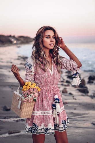 vivaluxury - fashion blog by annabelle fleur: nyfw mini moment blogger dress shoes hat jewels summer dress summer outfits basket bag beach dress