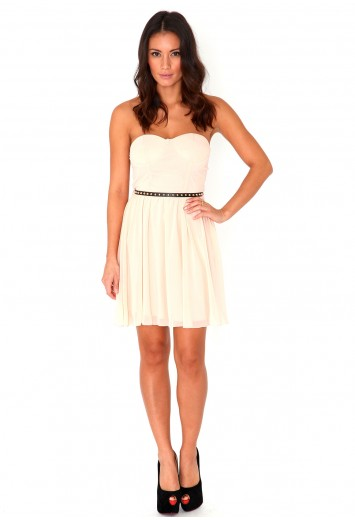 Paige Belted Skater Dress-dresses-missguided