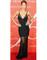 Doutzen kroes black sexy dress transparent net mesh victoria's secret