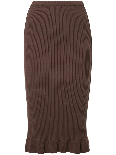 Aula skirt pencil skirt women brown