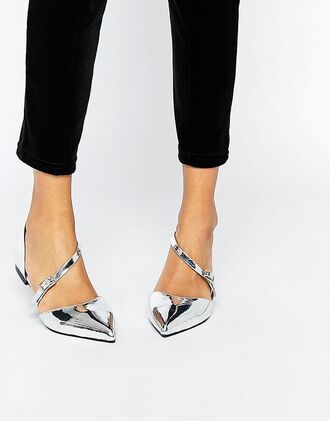shoes wide fit shoes wide fit wide shoes flats asos metallic metallic shoes pointed flats strappy flats