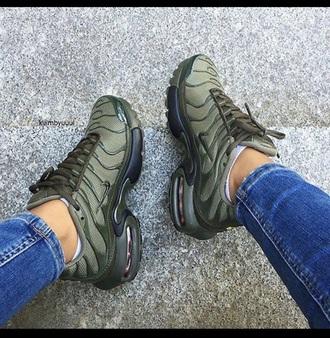 shoes nike air max army green
