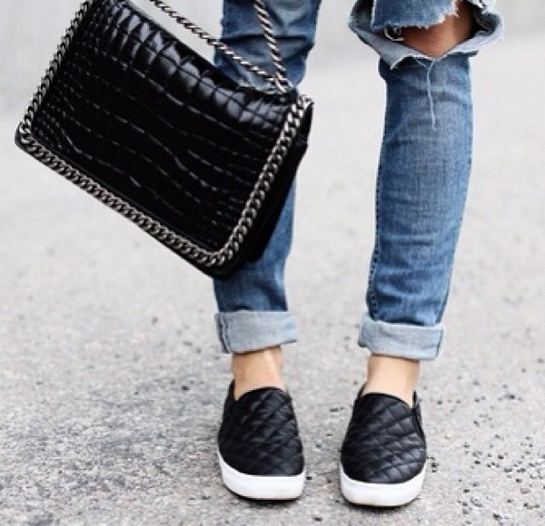 shoes bag jeans