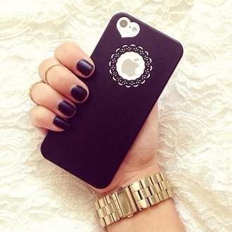 nail polish i want the phone case actually jewels iphone cover cute heart iphone 5 case black cover iphone case apple bag phone cover purple black over black white floral nails watch hand iphone 5s cases for women tumblr grunge black style matte black