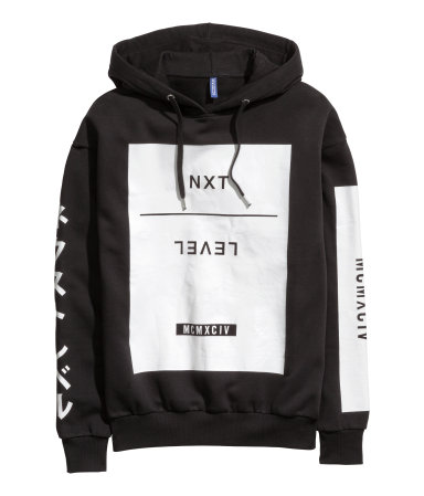 15fd313ce8982 H&M Printed Hooded Sweatshirt $14.99