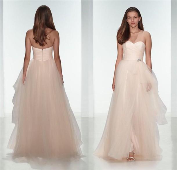 Dress blush wedding dresses a line wedding dresses 2016 wedding