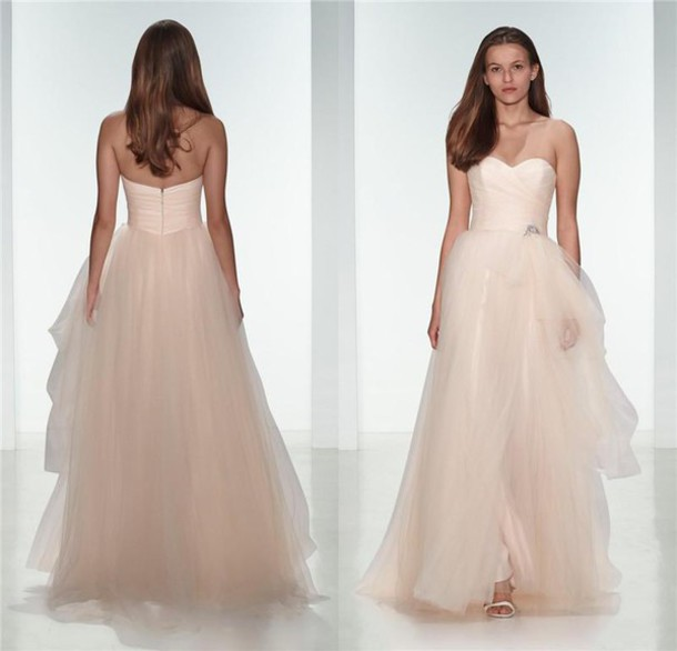 dress blush wedding dresses a line wedding dresses 2016