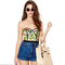 Tropics feather print bustier balconet top · love, fashion struck ·