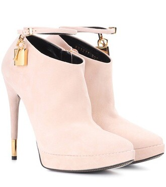 suede ankle boots boots ankle boots suede pink shoes