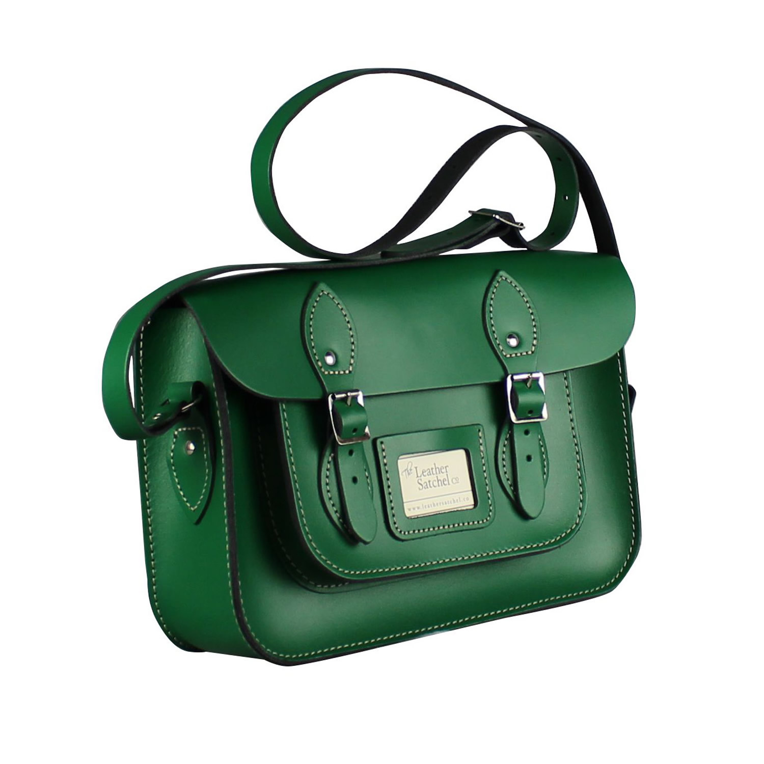 Classic Snow White Leather Satchel 12.5 inch | The Leather Satchel Co.