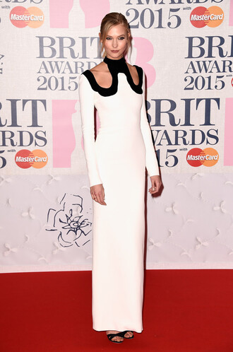 dress brit awards 2015 gown red carpet dress karlie kloss sandals shoes
