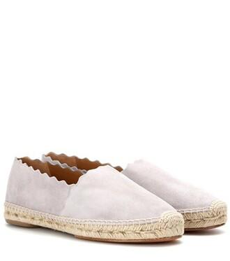 espadrilles suede grey shoes