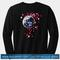 Earth cherry blossom sweatshirt back