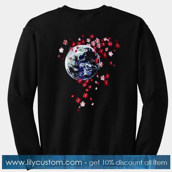 Earth Cherry Blossom Sweatshirt Back